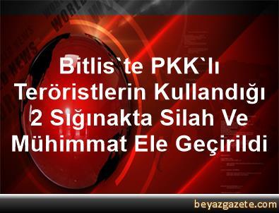 Bitlis'te PKK'lı Teröristlerin Kullandığı 2 Sığınakta Silah Ve Mühimmat Ele Geçirildi
