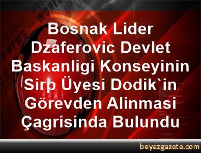 Bosnak Lider Dzaferovic, Devlet Baskanligi Konseyinin Sirp Üyesi Dodik'in Görevden Alinmasi Çagrisinda Bulundu