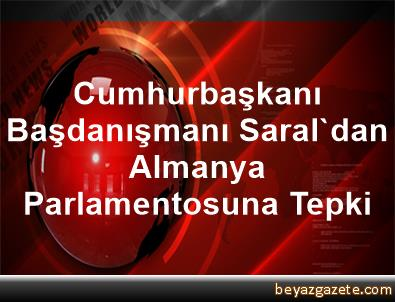 Cumhurbaşkanı Başdanışmanı Saral'dan, Almanya Parlamentosuna Tepki