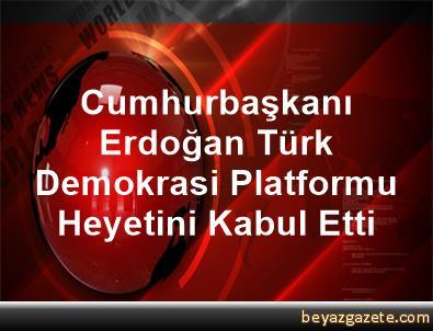 Cumhurbaşkanı Erdoğan, Türk Demokrasi Platformu Heyetini Kabul Etti