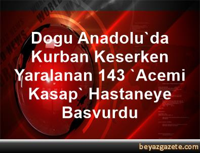 Dogu Anadolu'da Kurban Keserken Yaralanan 143 'Acemi Kasap' Hastaneye Basvurdu