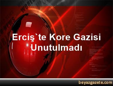 Erciş'te Kore Gazisi Unutulmadı