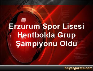 Erzurum Spor Lisesi Hentbolda Grup Şampiyonu Oldu