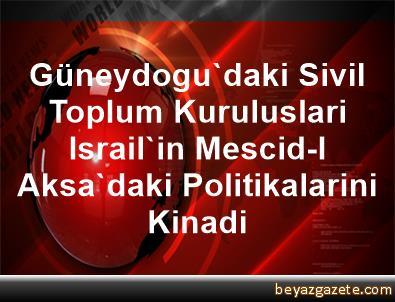 Güneydogu'daki Sivil Toplum Kuruluslari Israil'in Mescid-I Aksa'daki Politikalarini Kinadi