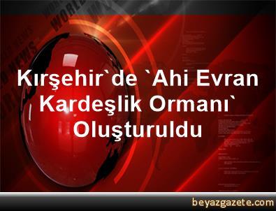 Kırşehir'de 'Ahi Evran Kardeşlik Ormanı' Oluşturuldu