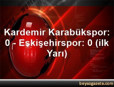 Kardemir Karabükspor: 0 - Eskişehirspor: 0 (ilk Yarı)