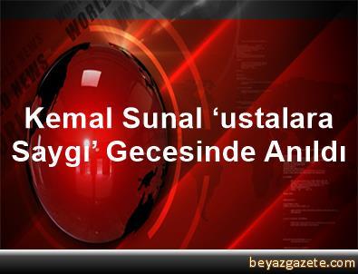 Kemal Sunal 'ustalara Saygı' Gecesinde Anıldı