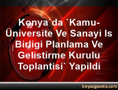 Konya'da 'Kamu-Üniversite Ve Sanayi Is Birligi Planlama Ve Gelistirme Kurulu Toplantisi' Yapildi
