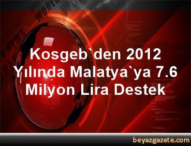 Kosgeb'den 2012 Yılında Malatya'ya 7.6 Milyon Lira Destek