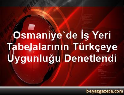 Osmaniye'de İş Yeri Tabelalarının Türkçeye Uygunluğu Denetlendi
