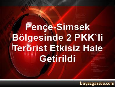 Pençe-Simsek Bölgesinde 2 PKK'li Terörist Etkisiz Hale Getirildi