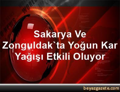 Sakarya Ve Zonguldak'ta Yoğun Kar Yağışı Etkili Oluyor