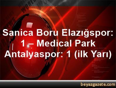 Sanica Boru Elazığspor: 1 – Medical Park Antalyaspor: 1 (ilk Yarı)