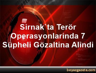 Sirnak'ta Terör Operasyonlarinda 7 Süpheli Gözaltina Alindi