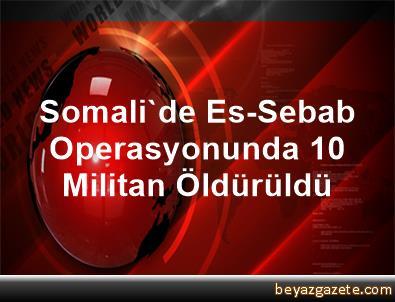 Somali'de Es-Sebab Operasyonunda 10 Militan Öldürüldü
