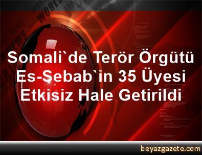 Somali'de Terör Örgütü Es-Sebab'in 35 Üyesi Etkisiz Hale Getirildi