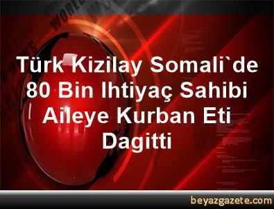 Türk Kizilay Somali'de 80 Bin Ihtiyaç Sahibi Aileye Kurban Eti Dagitti