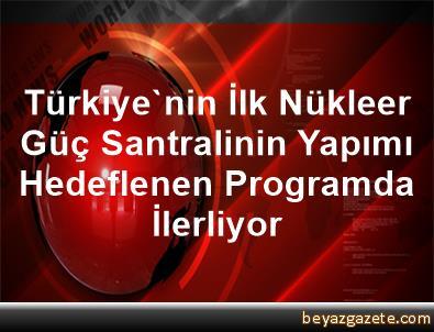 Türkiye'nin İlk Nükleer Güç Santralinin Yapımı Hedeflenen Programda İlerliyor
