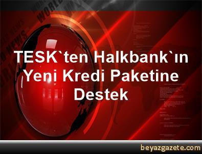 TESK'ten Halkbank'ın Yeni Kredi Paketine Destek