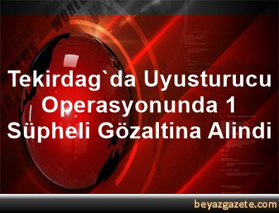 Tekirdag'da Uyusturucu Operasyonunda 1 Süpheli Gözaltina Alindi