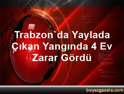 Trabzon'da Yaylada Çıkan Yangında 4 Ev Zarar Gördü