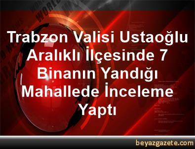 Trabzon Valisi Ustaoğlu, Aralıklı İlçesinde 7 Binanın Yandığı Mahallede İnceleme Yaptı