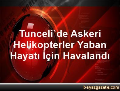 Tunceli'de Askeri Helikopterler Yaban Hayatı İçin Havalandı