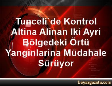 Tunceli'de Kontrol Altina Alinan Iki Ayri Bölgedeki Örtü Yanginlarina Müdahale Sürüyor