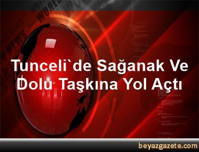 Tunceli'de Sağanak Ve Dolu Taşkına Yol Açtı