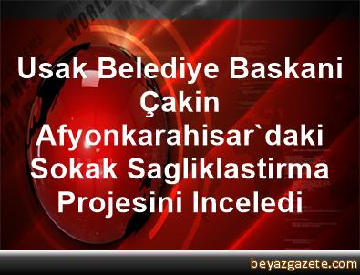Usak Belediye Baskani Çakin, Afyonkarahisar'daki Sokak Sagliklastirma Projesini Inceledi