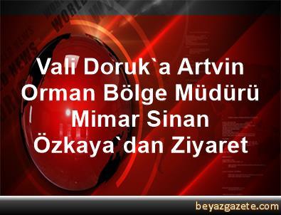 Vali Doruk'a Artvin Orman Bölge Müdürü Mimar Sinan Özkaya'dan Ziyaret
